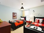 Mickey Mouse twin size bedroom