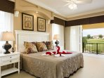 Master King Bedroom Upstairs with Private Balcony