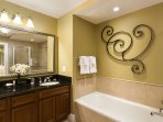 Master ensuite with soaking tub
