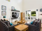 This spacious home boasts large vaulted ceilings