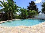 This rare corner lot in Reunion boasts a large deck area with plenty of privacy