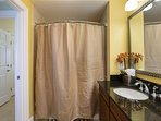 Shared family bathroom with access to third bedroom