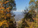 Views of Mt. Mitchell and Clingmans Peak from the deck.