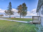 This abode is just steps from the water and minutes from hiking trails.