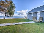 The waterfront cottage offers 300 feet of private beach space.