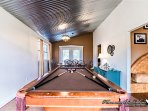 Lots of fun to be had with this pool table