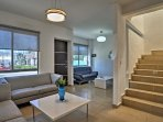 Over 1,000 square feet of living space boasts 2 sitting areas and sleeping for 8.