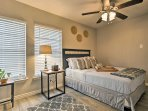 The home provides 2 master bedrooms with queen-sized beds when you're ready for some well-deserved rest.