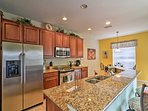 Whip up inspired treats in the the spacious, fully equipped kitchen.