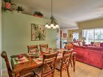 Enjoy home-cooked meals at this rustic dining room table with seating for 6.