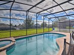 Elevate your dream vacation to the magical Orlando area in this 5-bedroom, 5-bathroom vacation rental house in...