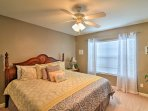 This bedroom also provides a comfortable king bed.