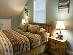 MASTER BEDROOM HAS A KING SIZE BED WITH  AN UPGRADED MATTRESS