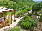 Rancale's garden and terrace