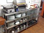 Cocina super equipada, con electrodomésticos prefesionales