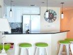 Breakfast bar, granite top