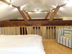 the galleried bedroom