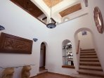 Foyer Double Cupola Ceilings – beautiful also functional, you're in a Mexico Hacienda!
