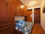 Extra Sleeping Twin Murphy Bed with Closet, Clothes Storage & Pillow top Matress