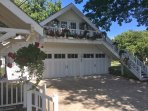 Attached 6 car garage carriage house with loft apt where host/owner lives