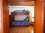 Bedroom #4 - Twin Bunk Bed with Stairway (not latter) and clothes storage, Ceiling Fan and A/C.