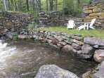 These are the foundation walls from the old Mill - 1750's