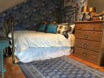 Blue Room with twin brass bed and down duvet