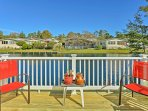 Enjoy a relaxing coastal getaway at this 1-bedroom, 2-bath vacation rental house in Surfside Beach.