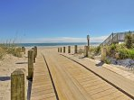 Spend your afternoons lounging in the sun on the private beach, just 1 mile away from this home.