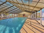 Swim laps in the pool or squeeze in a quick workout at the fitness center before a walk to Surfside Freddie's!