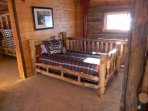 Twin bed in the loft. There is also a pull out couch and cable TV in the loft