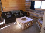 pull out couch in the loft area