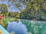 Be sure to keep an eye out for manatees swimming through this crystal clear water.