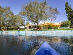 Take the home's kayaks out and spend the day on the water.