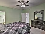 The master bedroom offers plenty of space to spread out.