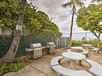 While staying at this condo, enjoy access to the community patio area with gas grill.