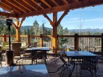 Enjoy the Beautiful Mountain Views with a Drink at Elements at Angel Fire Country Club