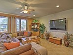 The 2,500-square-foot interior features tasteful decor and all the comforts of home.
