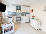 SEAGULLS REST, nautical themed features, open plan living area, woodland views,