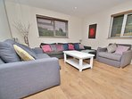 Large Sitting Room - 3 Sofas - One is a luxury double sofa bed, one a luxury single sofa bed.