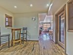 Level 2 - Living, Dining Area and Kitchen with Beautiful Hardwood Floors with Radiant Heat, and a Private Deck with BBQ...