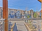 Private Deck of 4th Level Master Bedroom with Old Town and Mountain Views