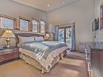 Level 4 - Master Bedroom with King Bed, Flat Screen TV, Private Bath and Deck
