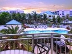 Wonder pool view overlooking tropical landscaping and Key West Sunrise!!!!