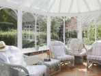 Comfortable chairs in conservatory