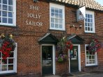 1 minutes walk from the  quintessential Suffolk Pub, the Jolly Sailor to enjoy local fare or a pint