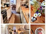 Well equipped kitchen - dishwasher, double oven, ceramic hob, microwave, toaster, kettle, vac.