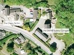 Ariel view - The Old Mill Holiday Cottages & The Cherry Pie Inn next door