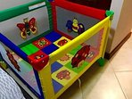 Playpen and air mattress available