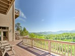 Enjoy 'the peaceful side of the Smokies' from this lovely home!
